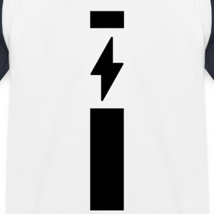 Lightning met strip - Kinderen baseball T-shirt