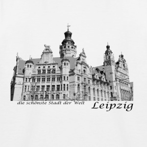 Leipzig City Hall with signature - Kids' Baseball T-Shirt