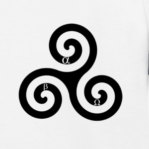 Alpha Beta Omega triskelion - Kinder Baseball T-Shirt