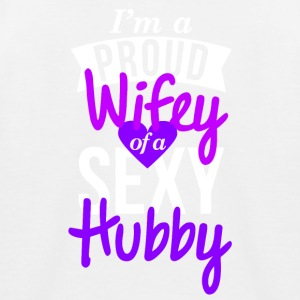 Proud wifey couple shirt design - Kinder Baseball T-Shirt