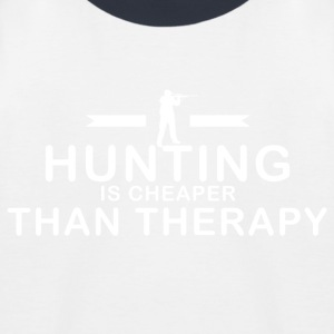 De jacht is goedkoper dan therapie - Kinderen baseball T-shirt
