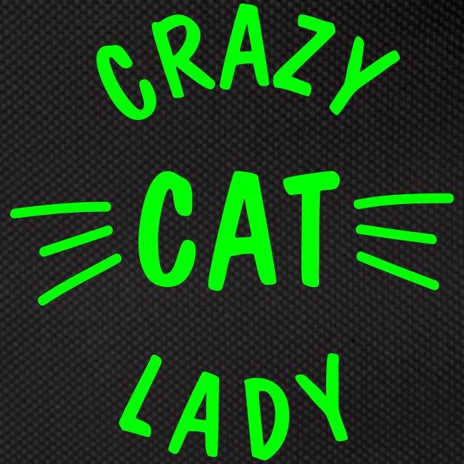 Vorschau: Crazy Cat Lady meow - Gürteltasche