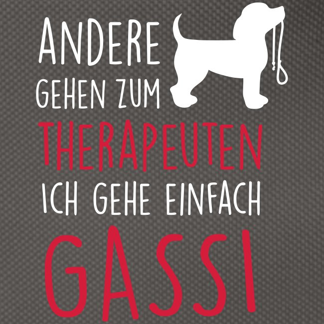Vorschau: Gassi Therapeut Hund - Gürteltasche