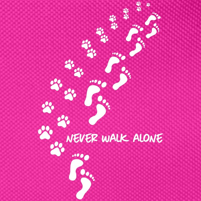 never walk alone dog - Gürteltasche