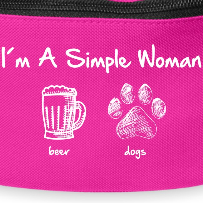 Vorschau: simple woman beer white - Gürteltasche