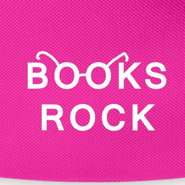 Books Rock White