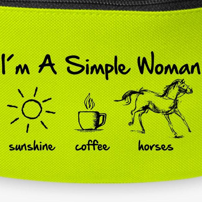 Vorschau: simple woman horse - Gürteltasche