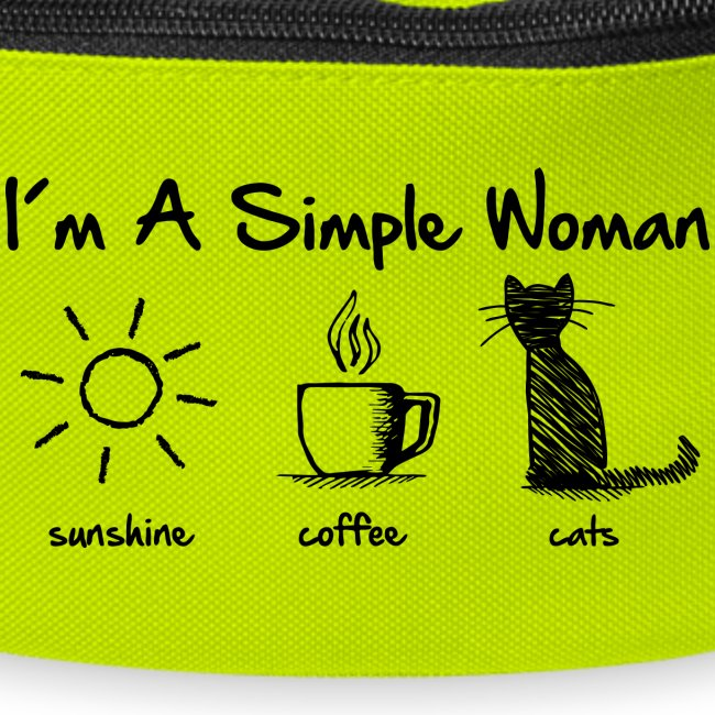 simple woman cats - Gürteltasche