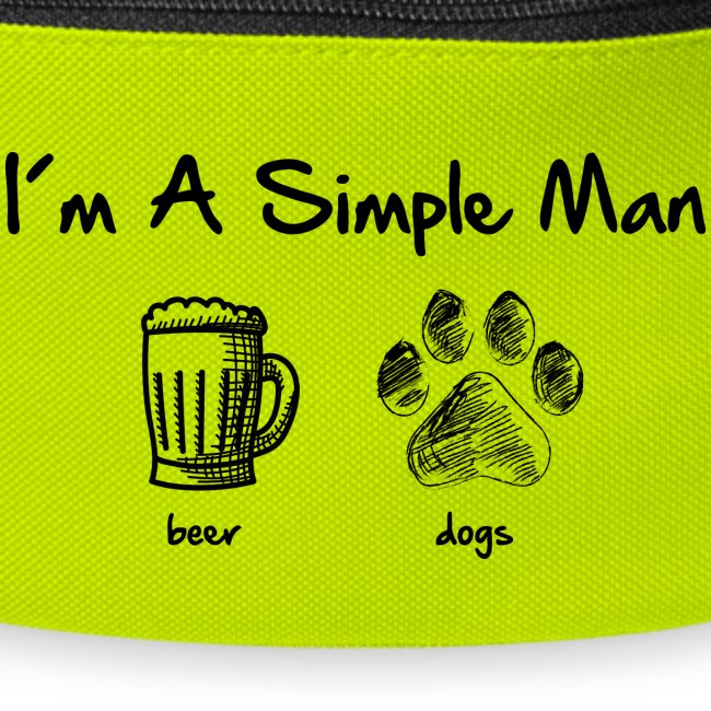 simple man dogs beer - Gürteltasche