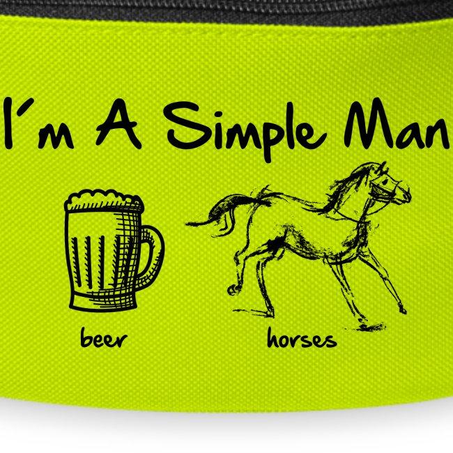 Vorschau: simple man pferd - Gürteltasche