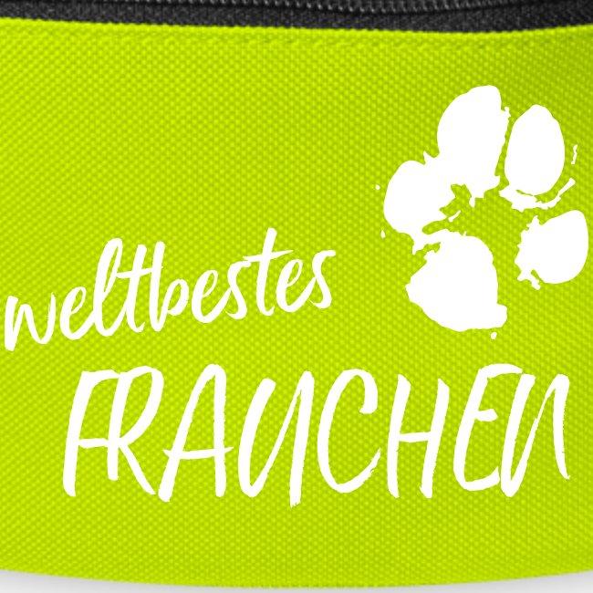 Vorschau: weltbestes Frauchen Pfote Hund - Gürteltasche