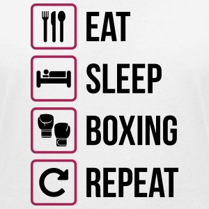 Eat Sleep Boxing Repeat - Maglietta da donna scollo a V