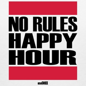 No Rules Happy Hour - Women's V-Neck T-Shirt