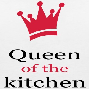 queen of the kitchen - Frauen T-Shirt mit V-Ausschnitt