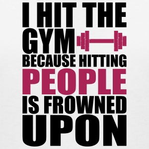 Hit The Gym fitnes t-shirt - Vrouwen T-shirt met V-hals