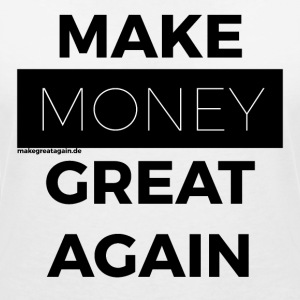 MAKE MONEY GREAT AGAIN black - Frauen T-Shirt mit V-Ausschnitt