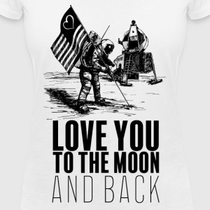 Until the Moon - Women's V-Neck T-Shirt