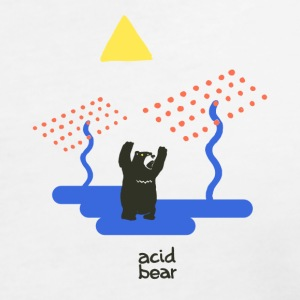 acid bear - Women's V-Neck T-Shirt