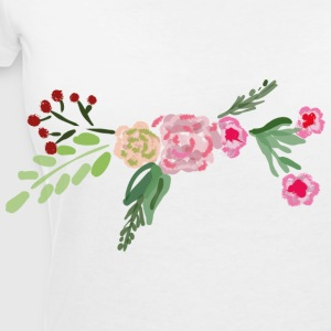 Blumenranke - Women's V-Neck T-Shirt