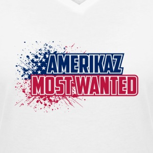 Amerikaz Most Wanted - Women's V-Neck T-Shirt
