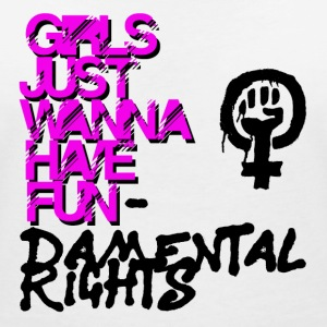 Girls just wanna have basic rights - Women's V-Neck T-Shirt