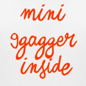 Mini-9gagger inside - Women's V-Neck T-Shirt