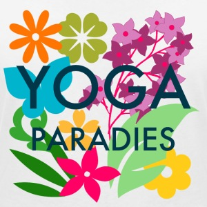 Yoga Paradise Shirt - Colorful Yoga Tee Shirt - Women's V-Neck T-Shirt