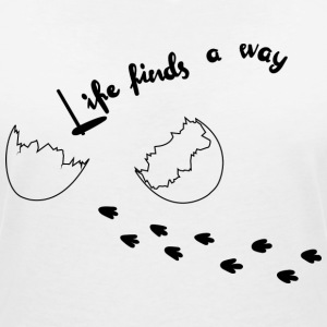 Life Finds Its Way - T-shirt col V Femme
