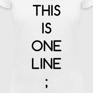 This Is One Line; - Women's V-Neck T-Shirt