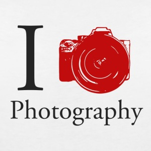 I Love Photography Collection - T-skjorte med V-utsnitt for kvinner
