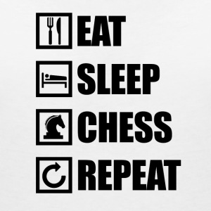 EAT SLEEP CHESS REPEAT - Women's V-Neck T-Shirt