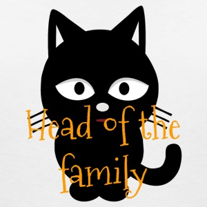 Head of family cat cat shirt - Women's V-Neck T-Shirt