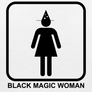 Black Magic Woman - T-shirt med v-ringning dam