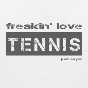 TENNIS love - dark tees - Women's V-Neck T-Shirt