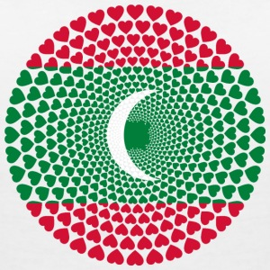 Maldives Maldives Love HEART Mandala - Women's V-Neck T-Shirt