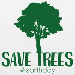 Earth Day / Earth Day: Save Trees #earthday - Women's V-Neck T-Shirt