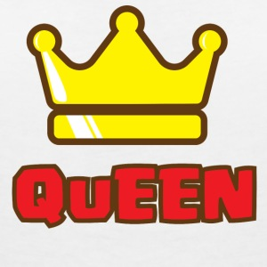 CROWN Familiy - QUEEN - T-shirt col V Femme