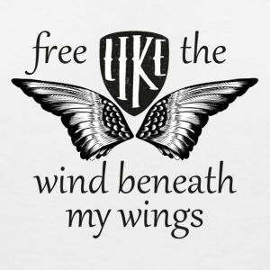 free like the wind beneath my wings - Frauen T-Shirt mit V-Ausschnitt