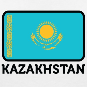 National Flag Of Kazakhstan - Women's V-Neck T-Shirt