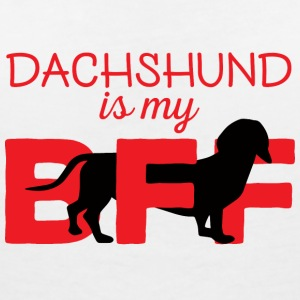 Dachshund / Dachshund: Dachshund is my BFF - Women's V-Neck T-Shirt