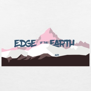 The_Edge_of_the_Earth - Women's V-Neck T-Shirt