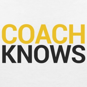 Coach / tränare: Coach Knows - T-shirt med v-ringning dam