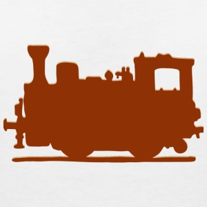 Vintage Steam Train - Women's V-Neck T-Shirt