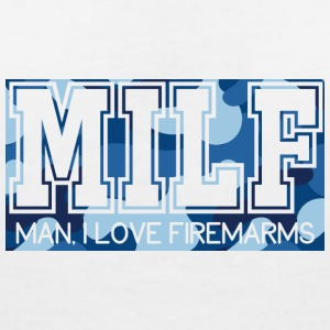 Military / Soldiers: MILF - Man, I Love Firearms - Women's V-Neck T-Shirt