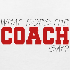 Coach / Coach: What Does The Coach Say? - Women's V-Neck T-Shirt
