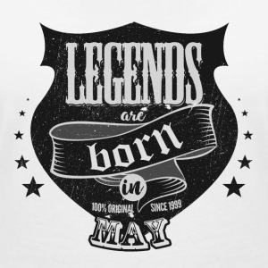 All legends may born birthday gift - Women's V-Neck T-Shirt