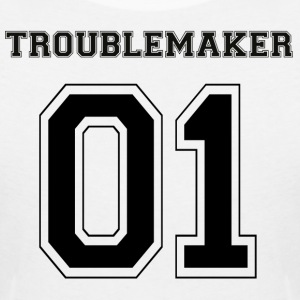 TROUBLEMAKER 01 Black Edition - Women's V-Neck T-Shirt