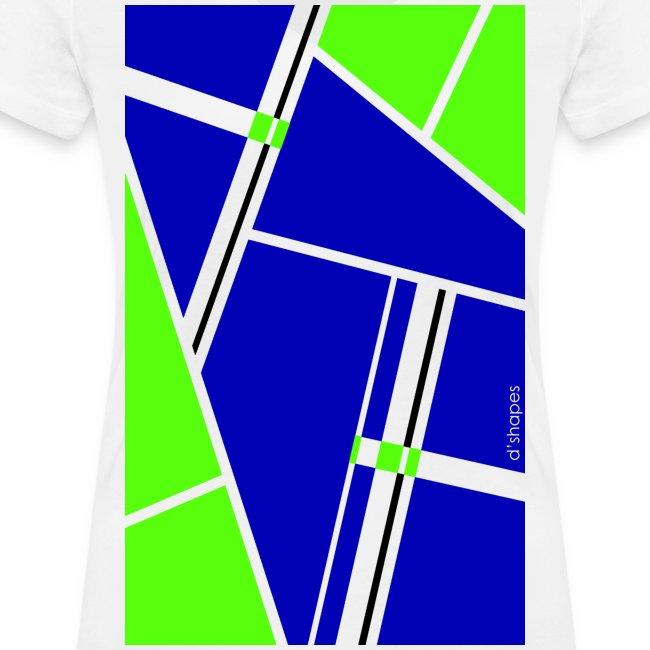 d shapes block verde blu