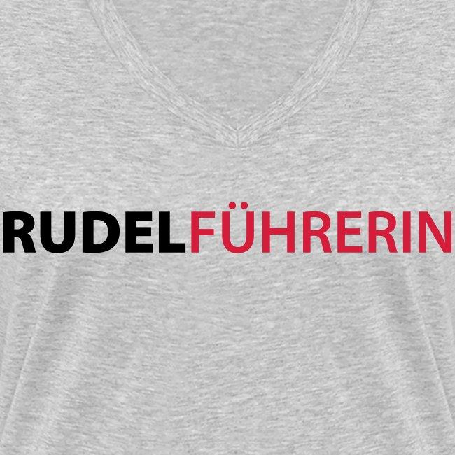 Vorschau: Rudelführerin - Frauen Bio-T-Shirt mit V-Ausschnitt von Stanley & Stella