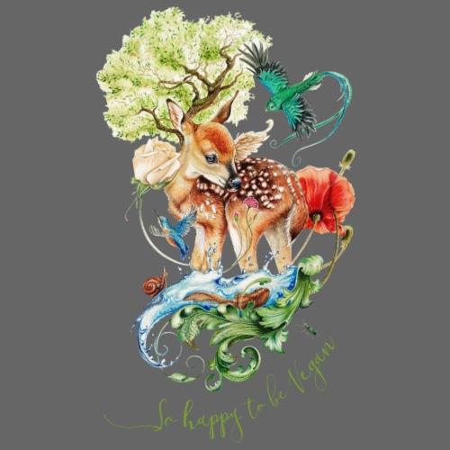 Schattig hertje door Maria Tiqwah - Vrouwen bio T-shirt met V-hals van Stanley & Stella